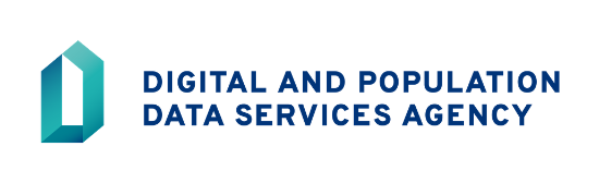 The logo of the Digital and Population Data Services Agency.