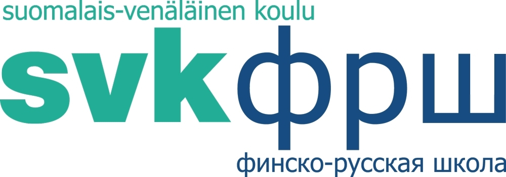 The logo of the Finnish-Russian School.